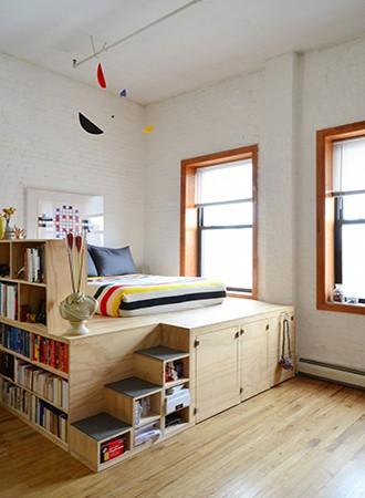 raised bed bedroom storage ideas