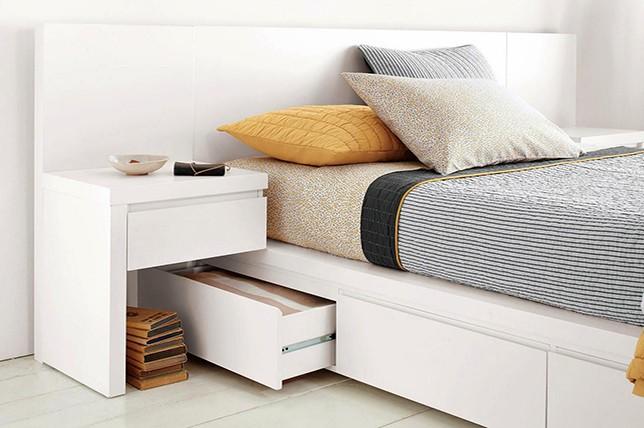platform bed bedroom storage ideas