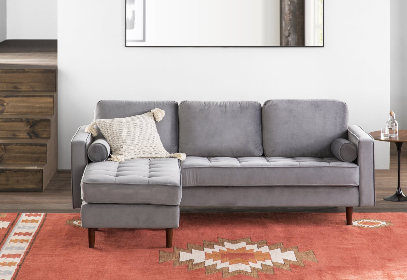 L shaped sectional living room