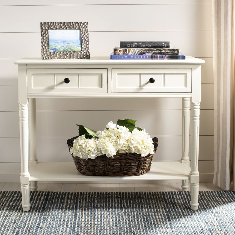Solid wood foyer console table