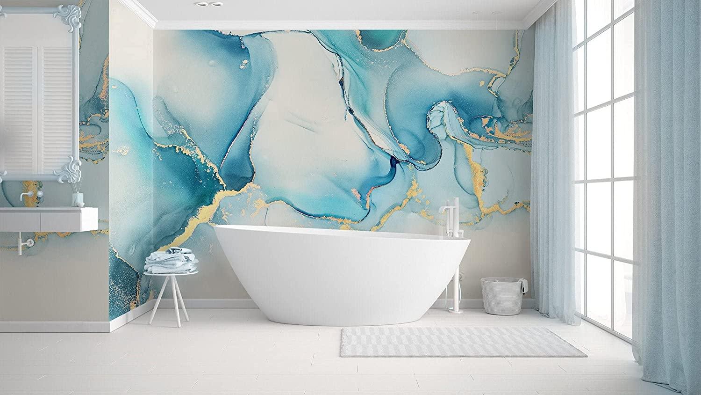 abstract wallpaper bathroom
