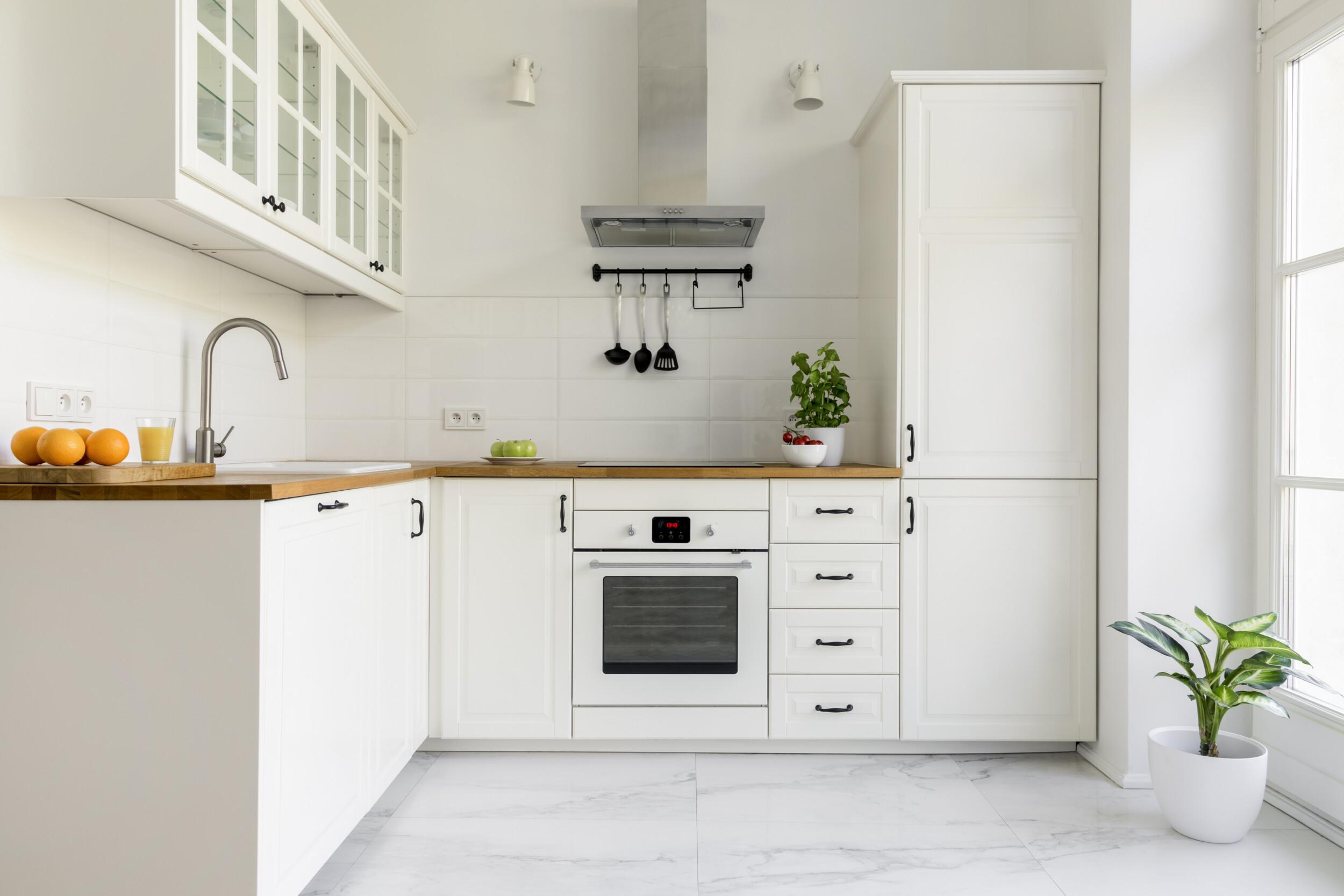 all white kitchen interior
