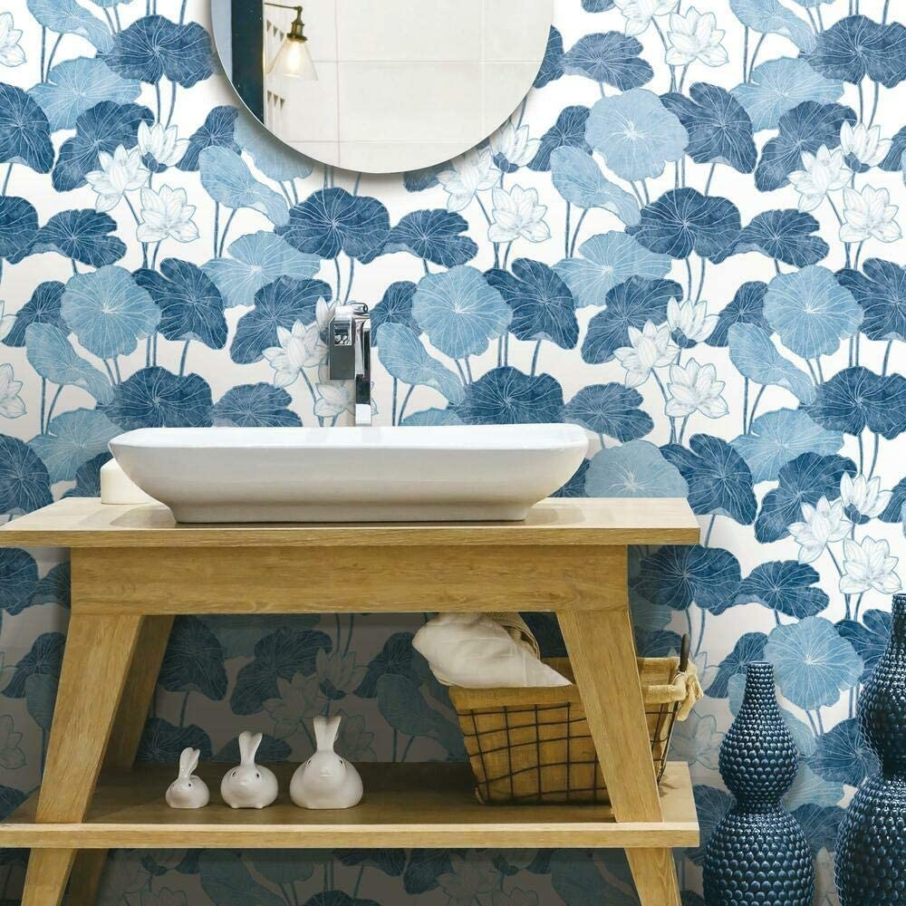 azure florals wallpaper