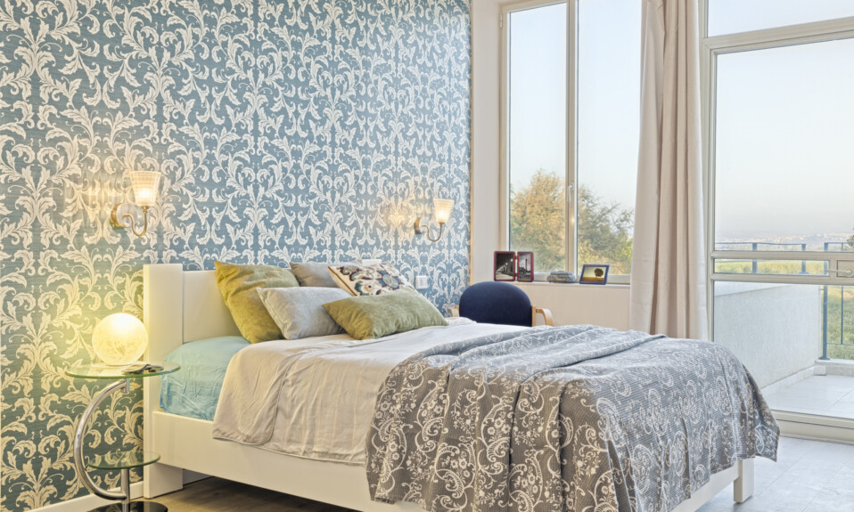 batik block bedroom wallpaper