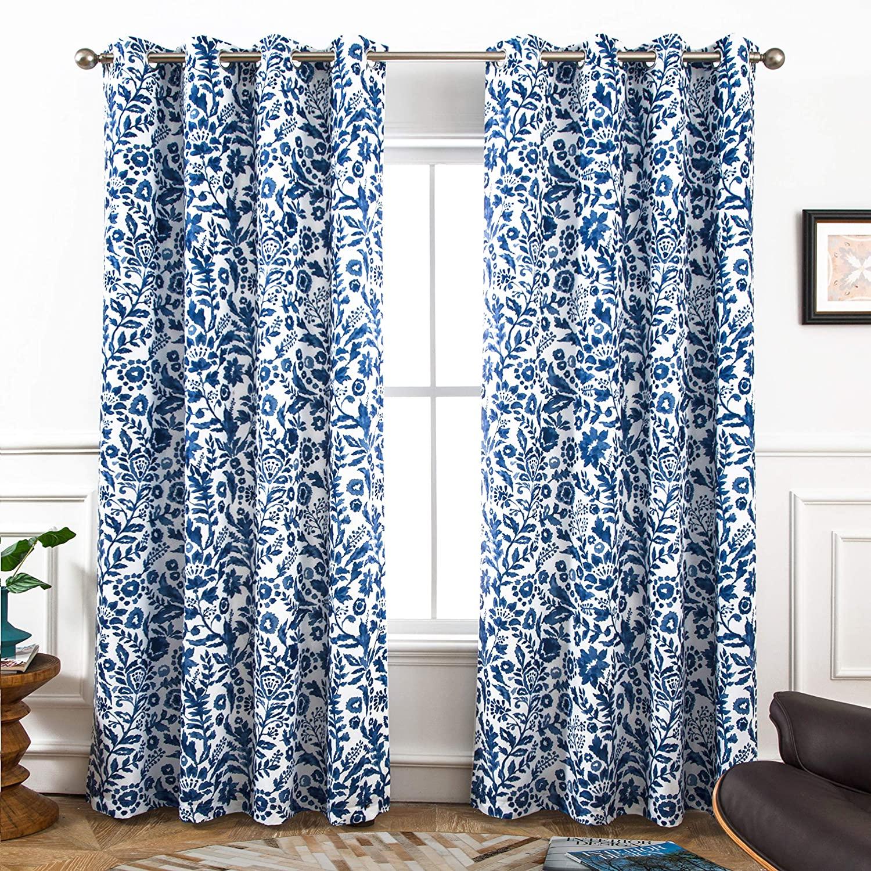 batik curtains eclectic