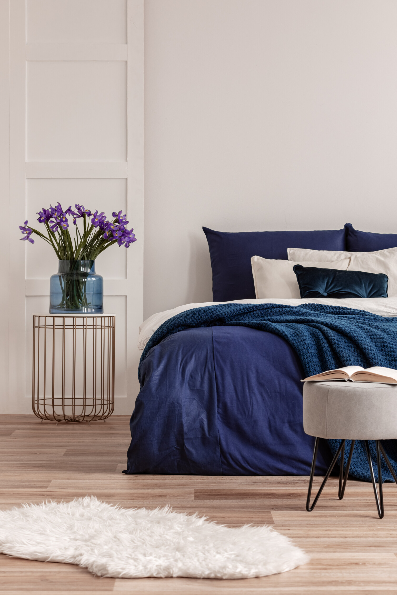 bedding idea two colors