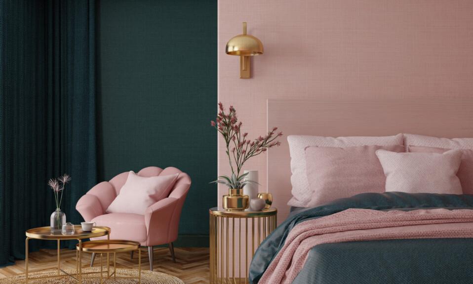 bedroom art deco interior