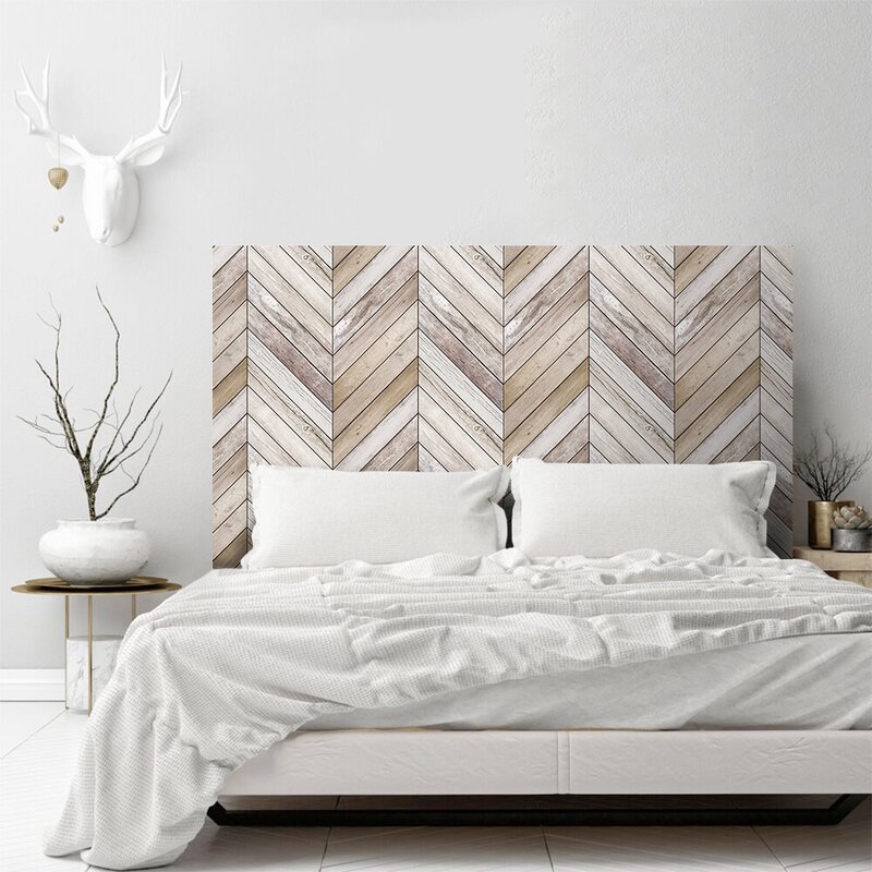 bedroom wallpaper headboard