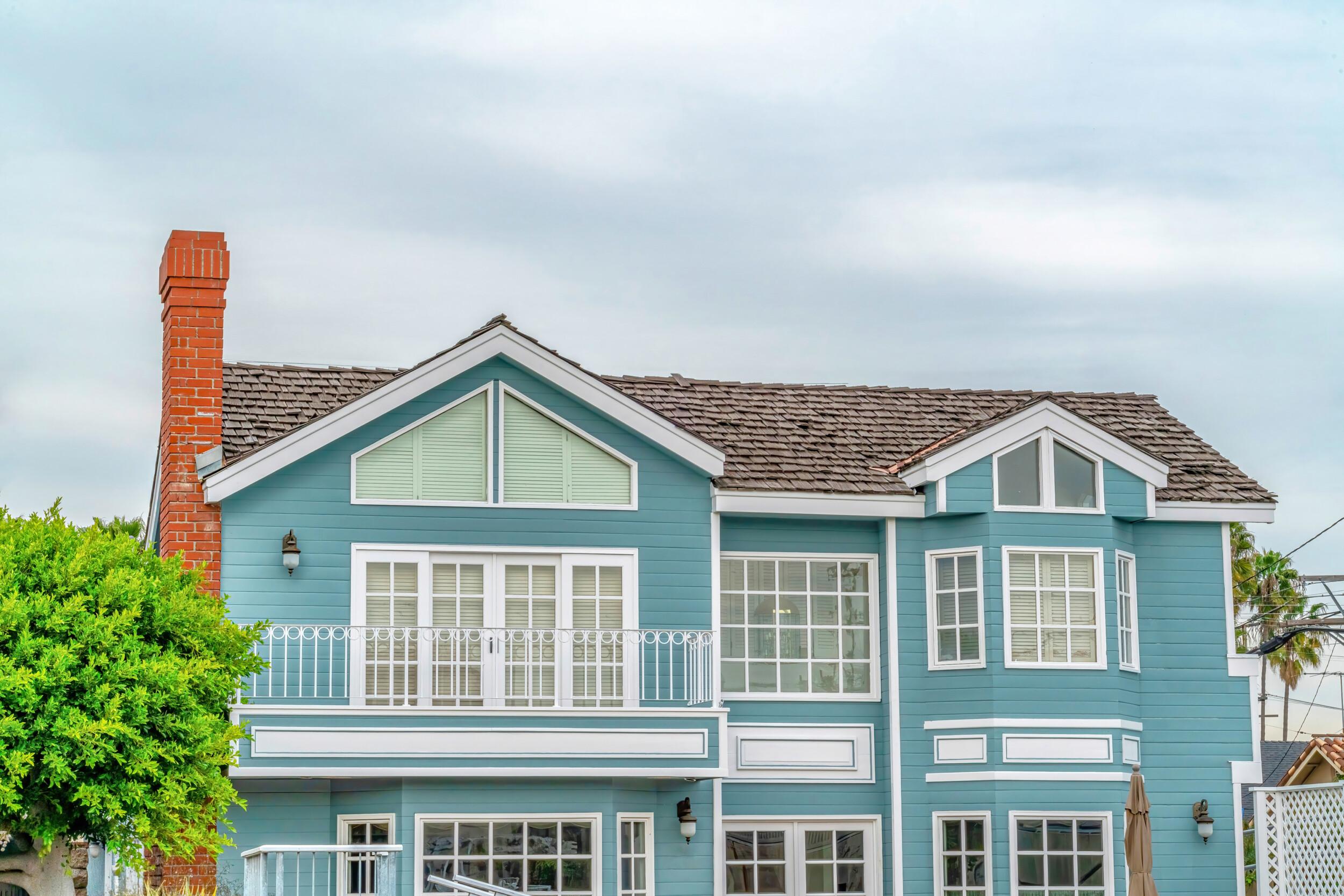 blue house exterior