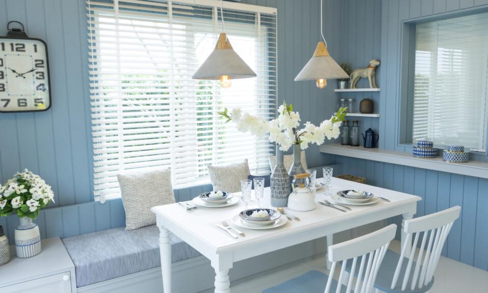 blue summer interior design