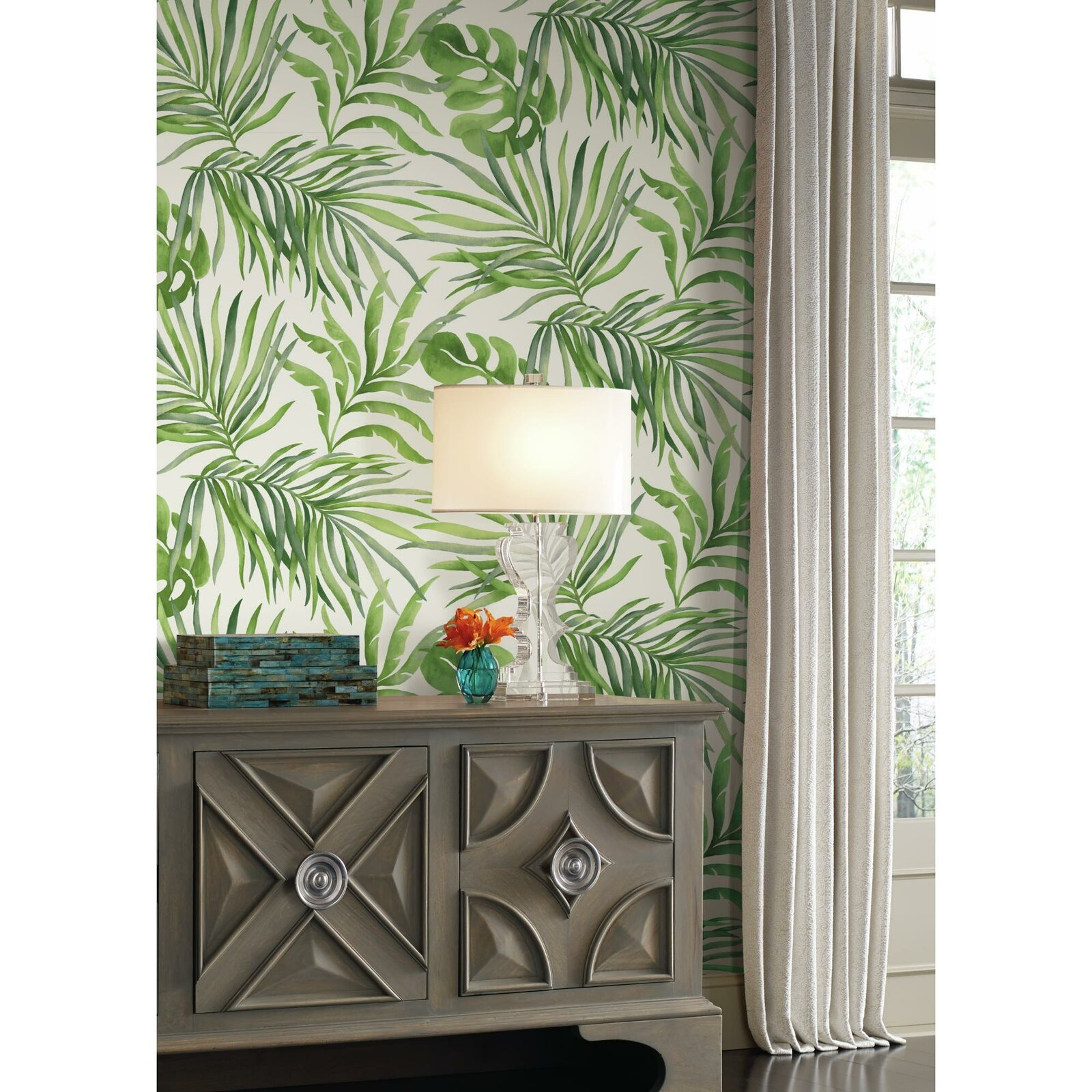 botanical wallpaper bedroom