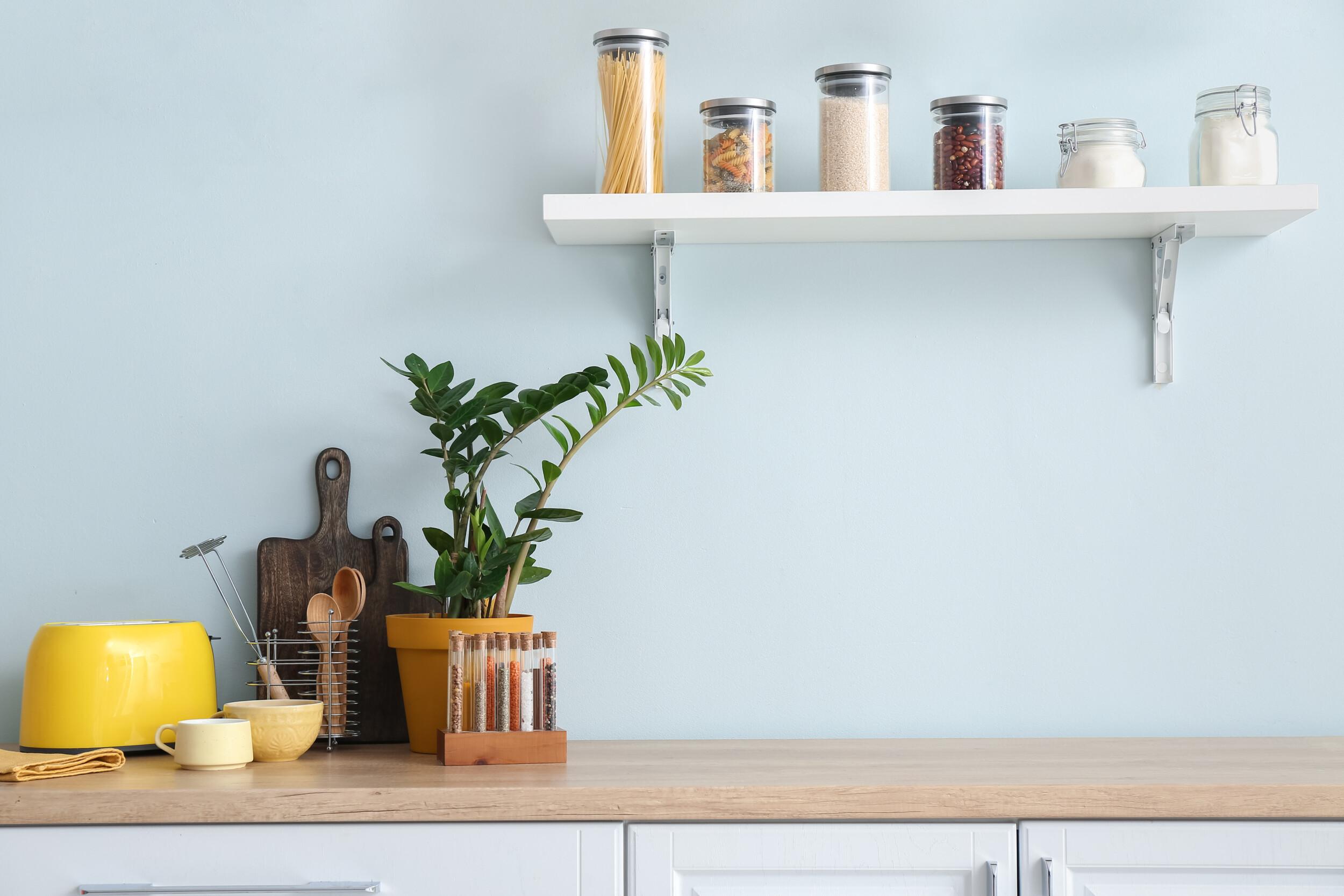 breezy blue kitchen interior