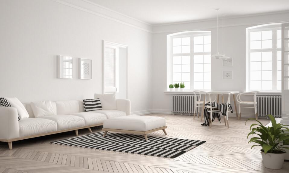 bright minimalist living room design