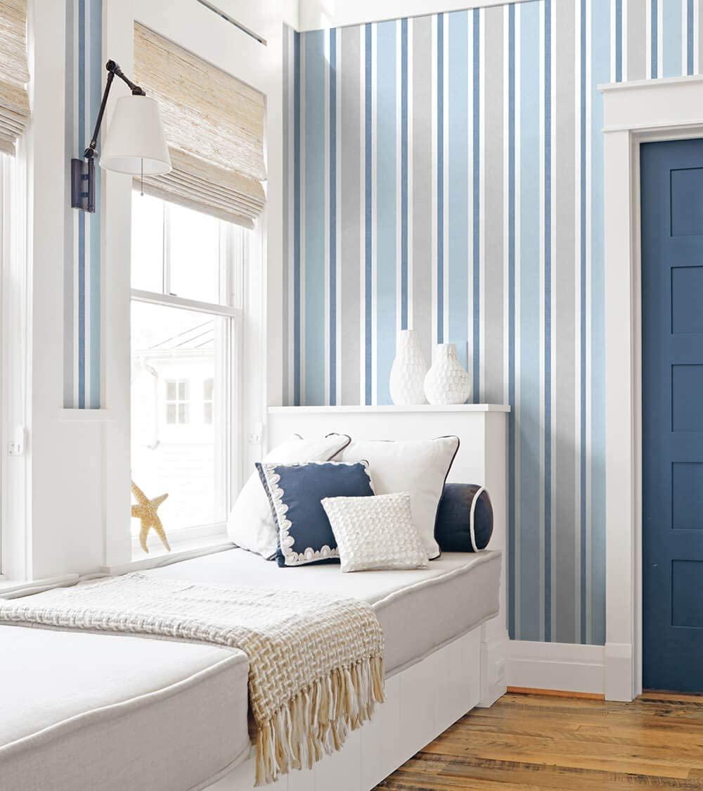 coastal stripes wallpaper