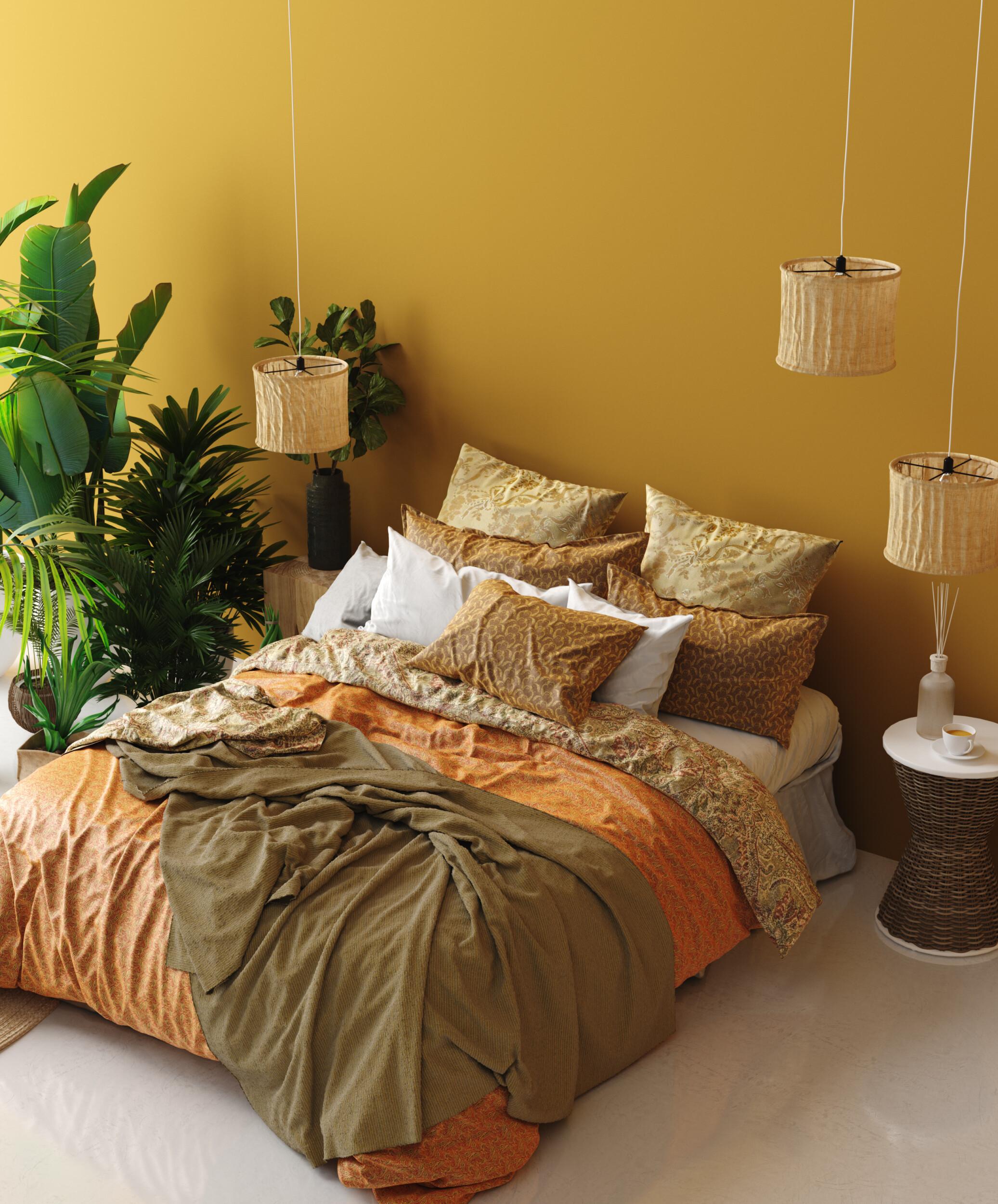 colorful bedding idea