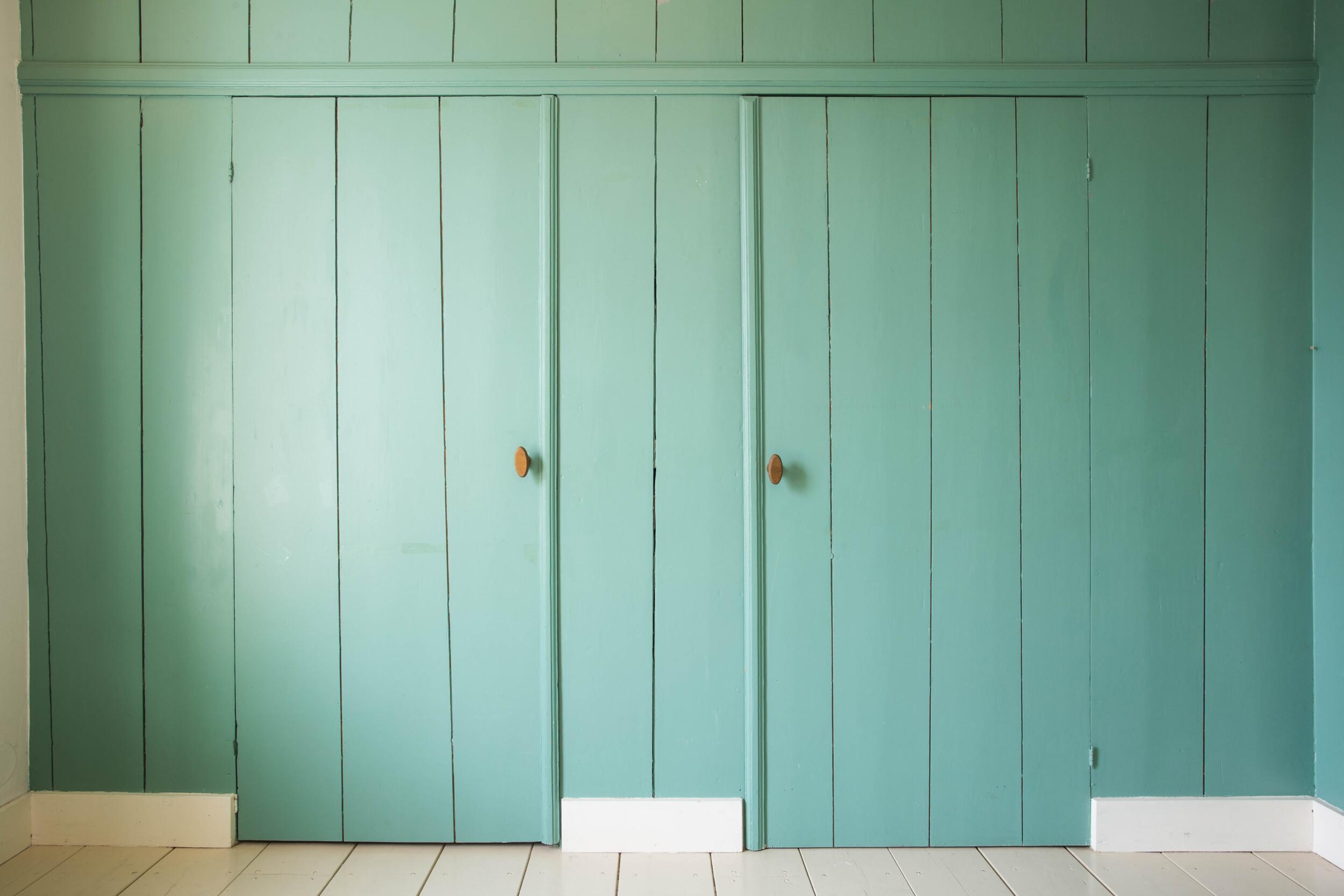 colorful closet doors