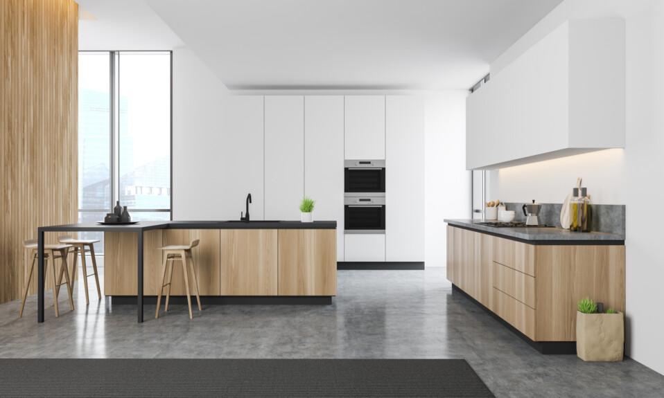 concrete kitchen floor design