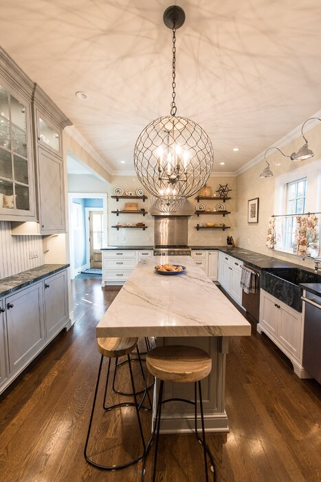 cream kitchen interior
