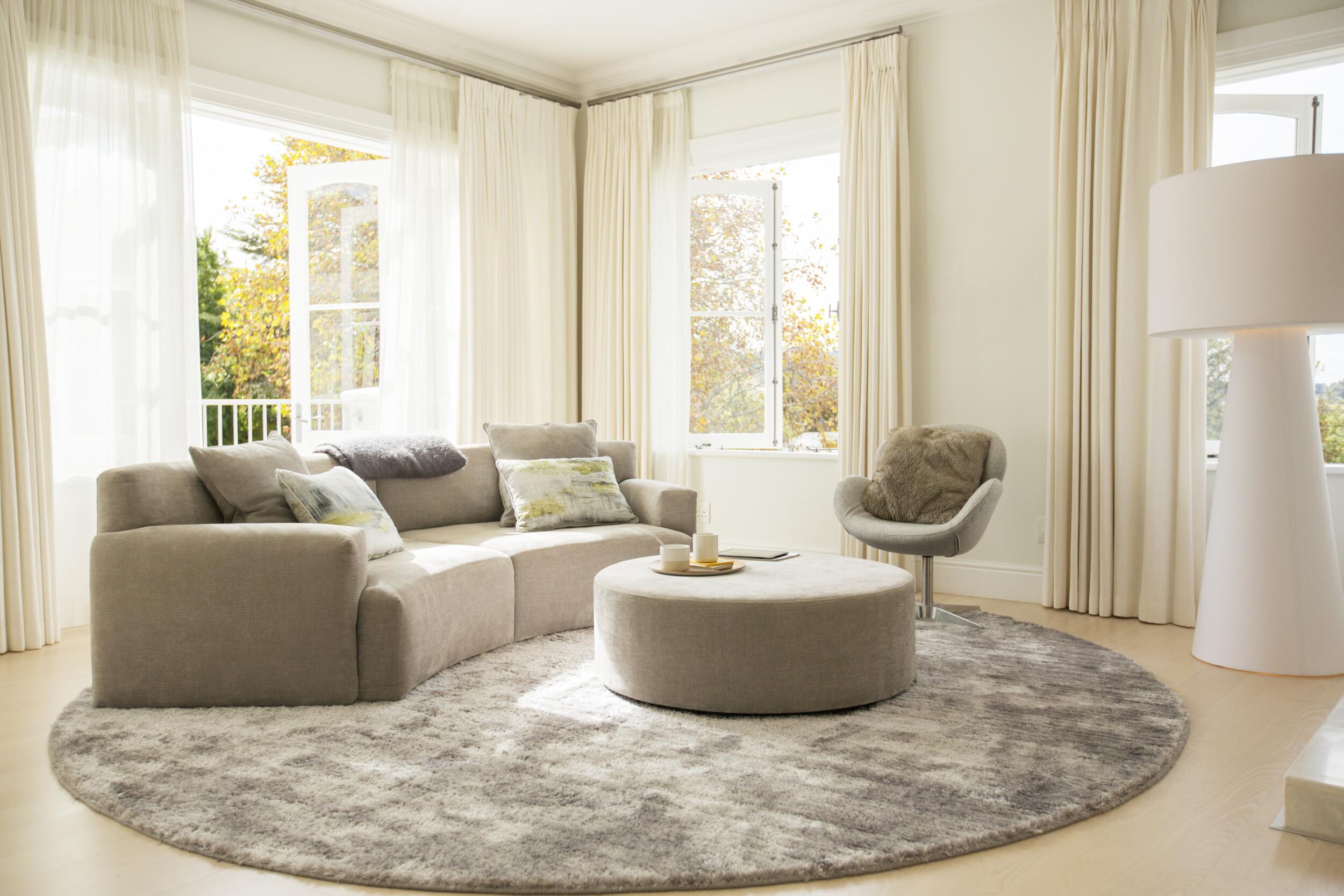 curved sofa modern living room