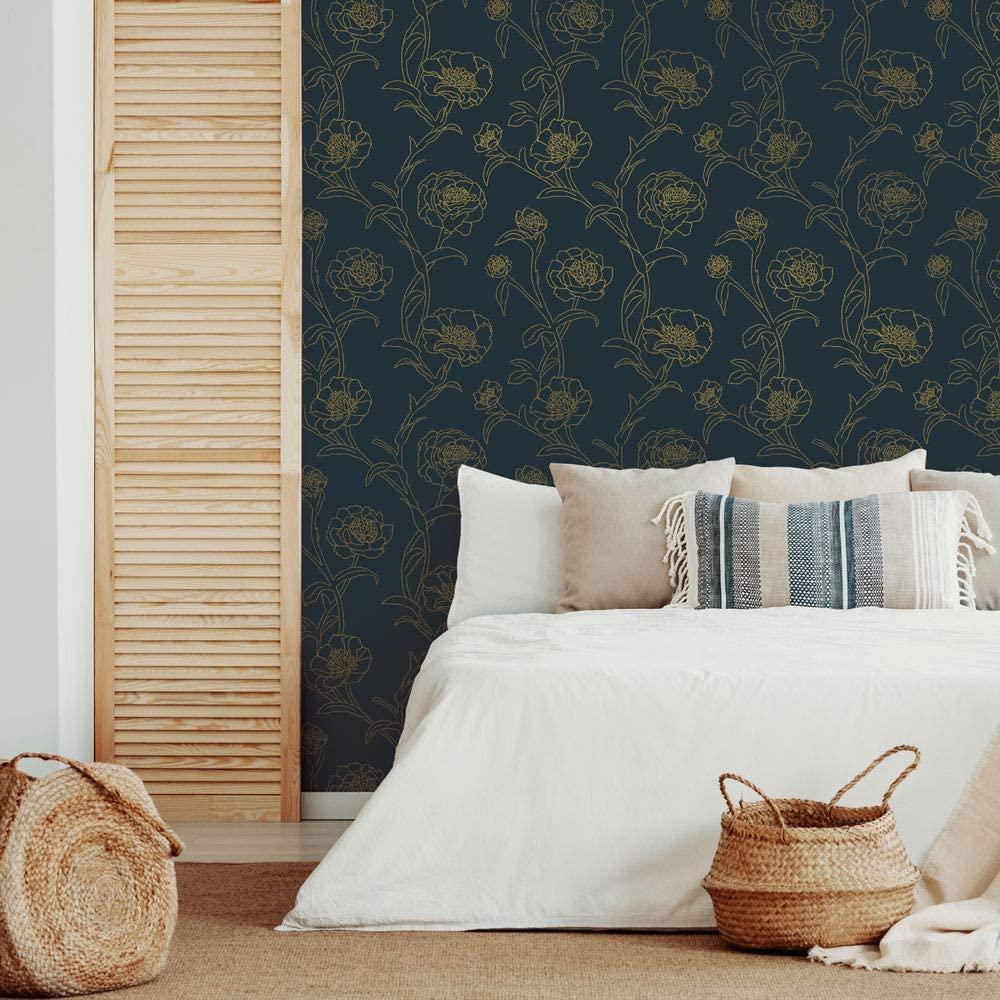 dark floral bedroom wallpaper