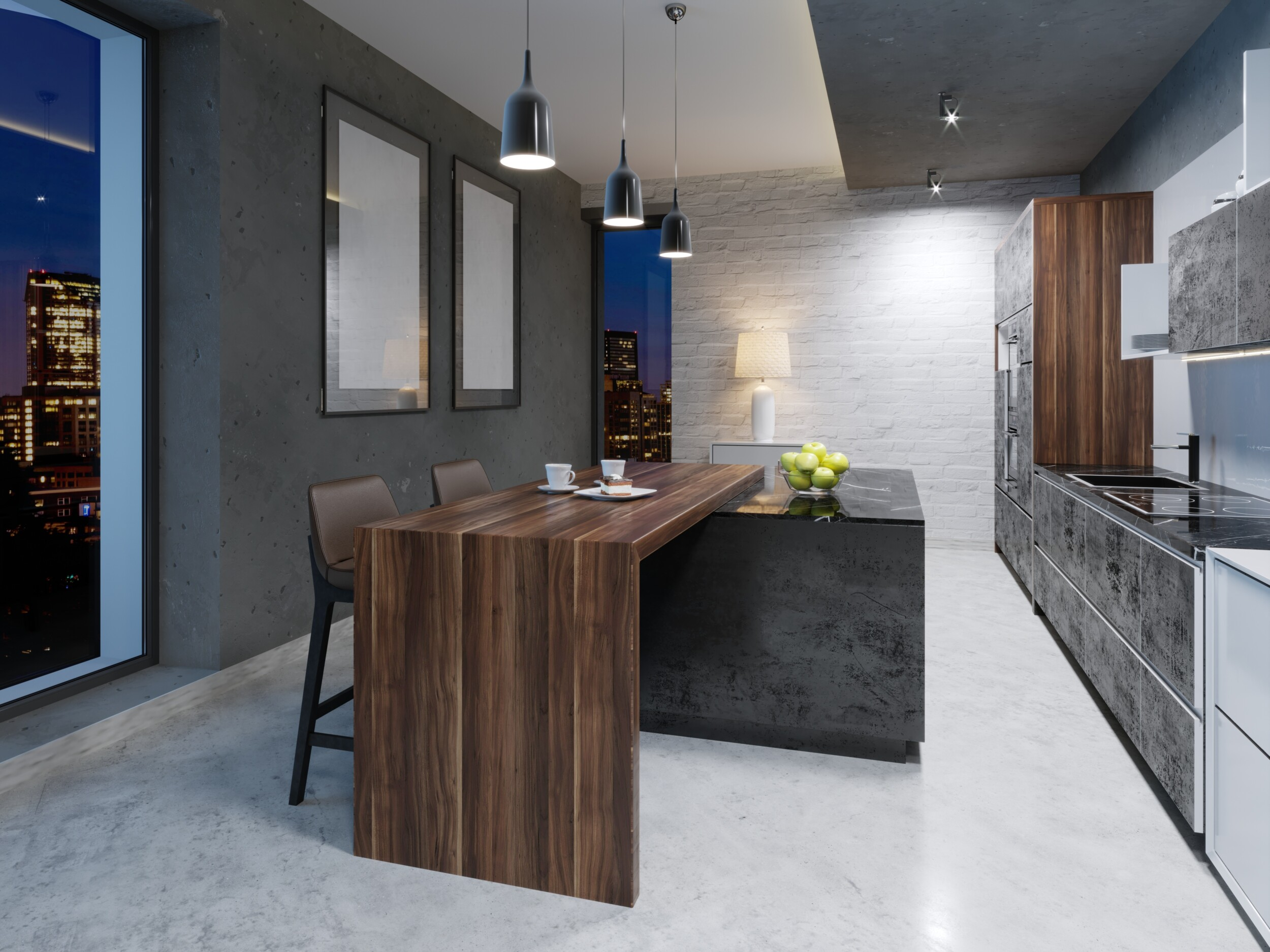 dark grey paint kitchen