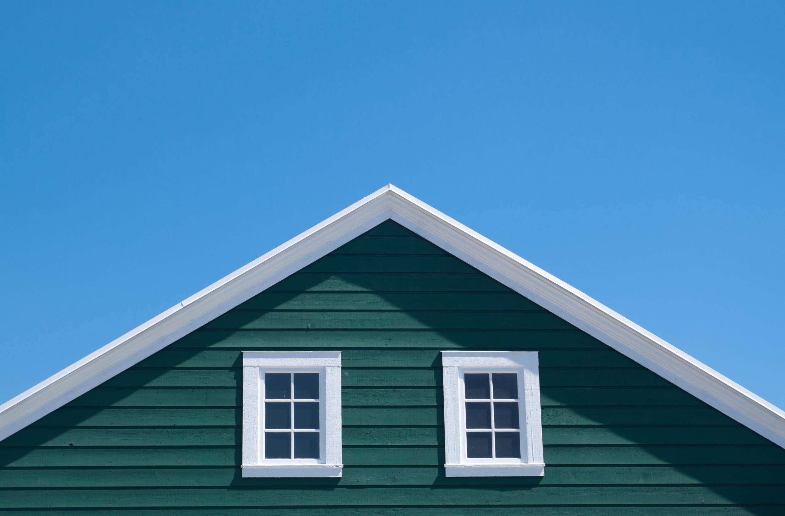 deep green house exterior