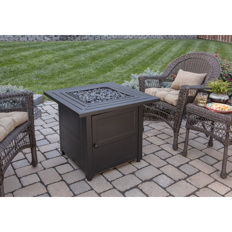 deep stainless steel fire pit