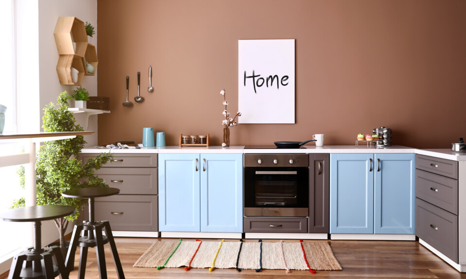earthy brown kitchen paint
