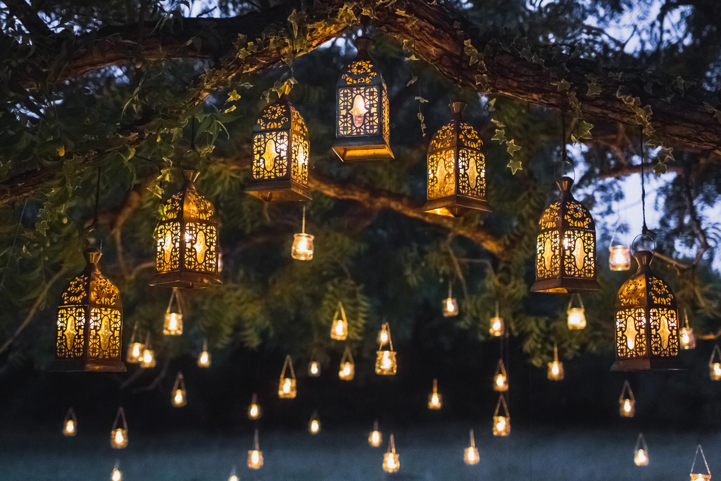 filigreed lanterns summer party
