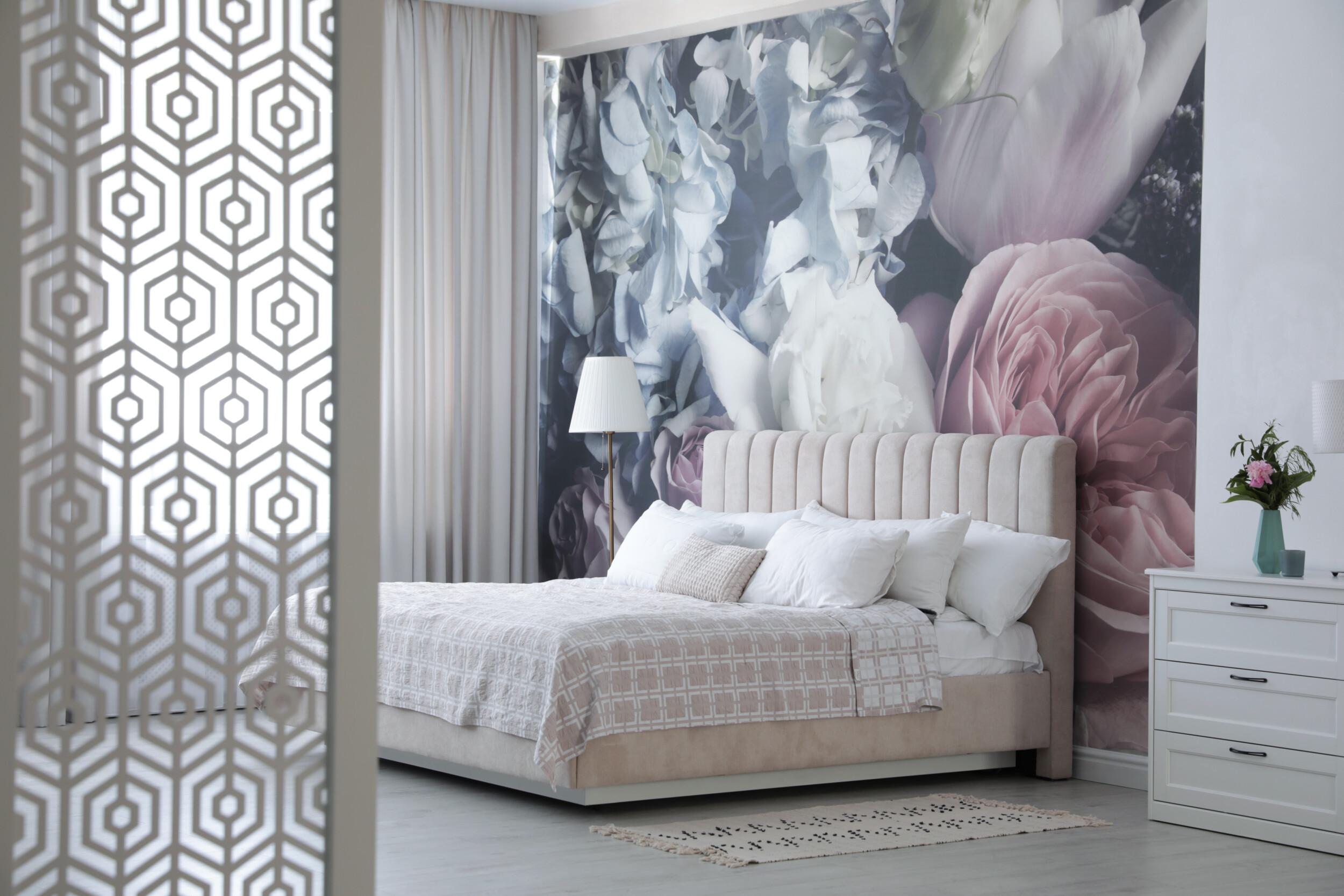 floral mural bedroom wallpaper