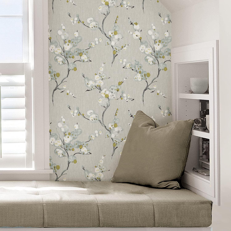 floral wallpaper interior idea