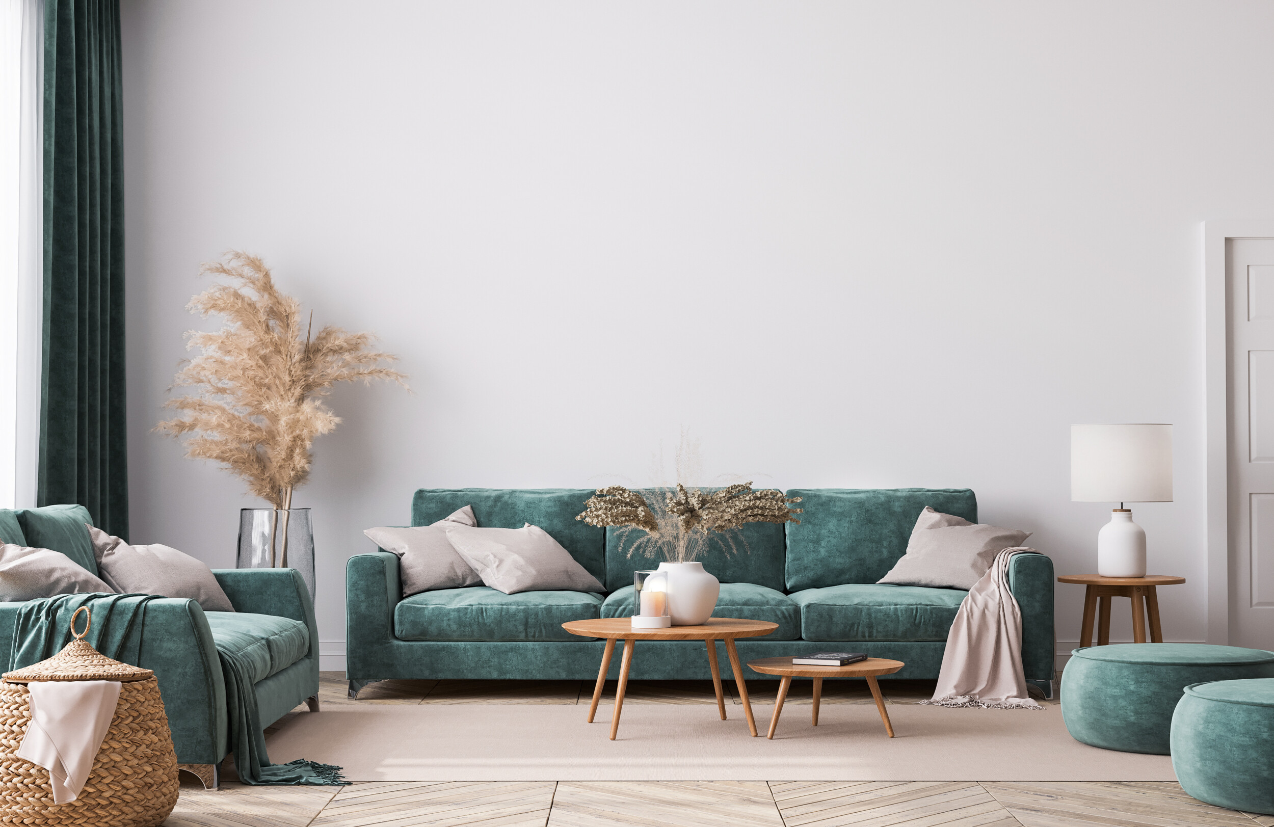 forest green sofa living room