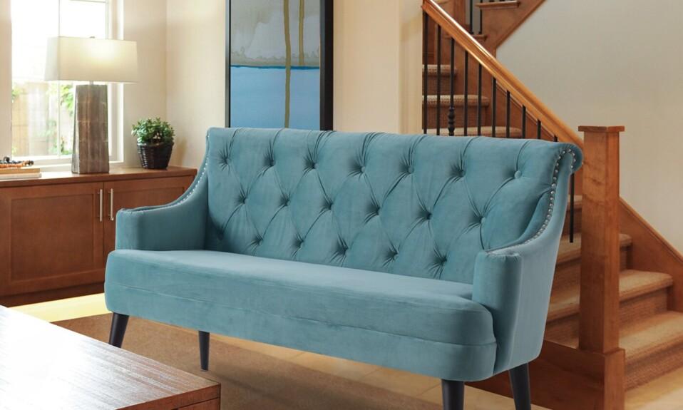 foyer blue settee
