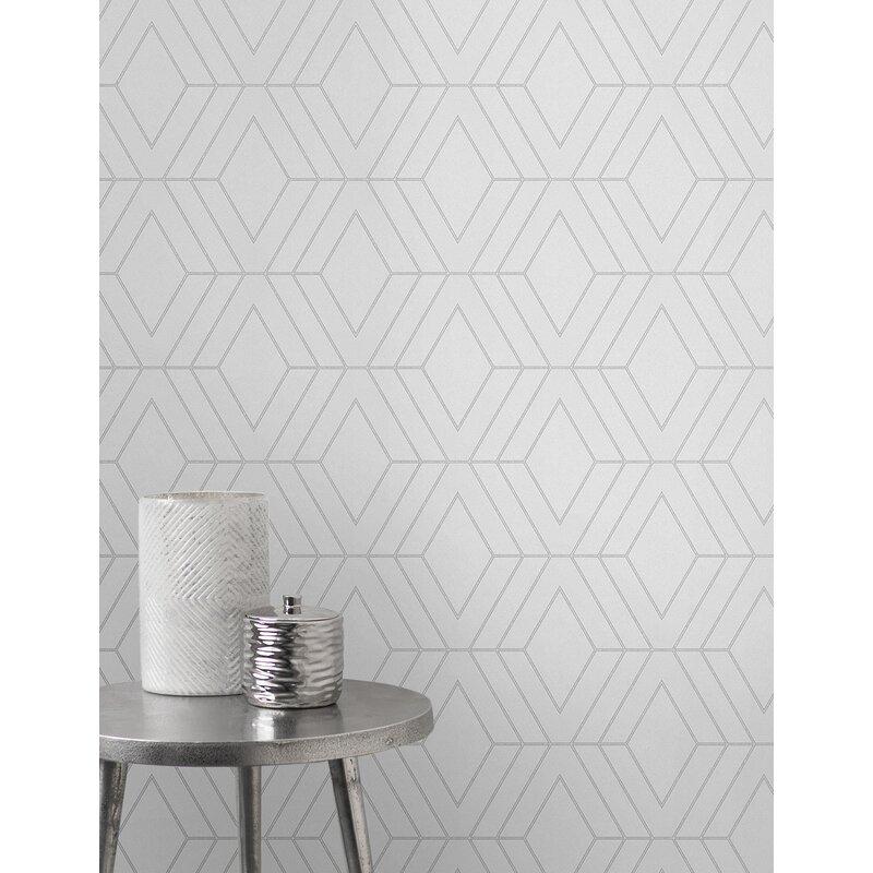 geometric bedroom wallpaper
