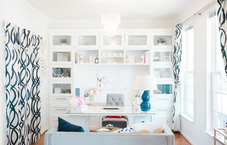 glass front cupboard home office