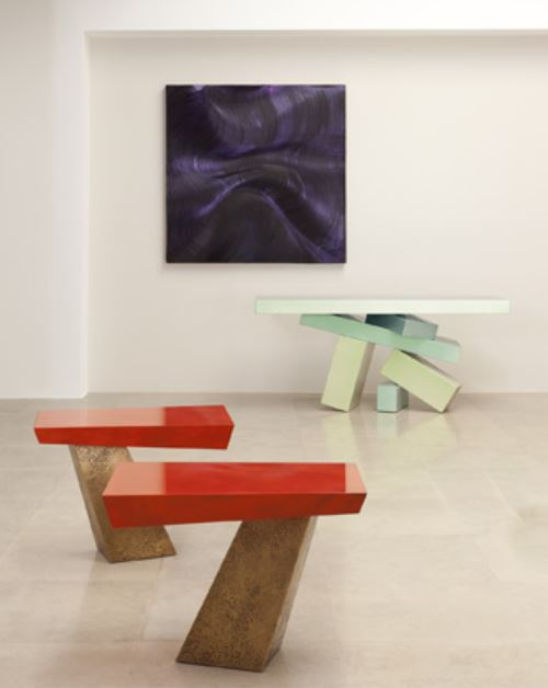 herve van der straten abstract organic metal furniture