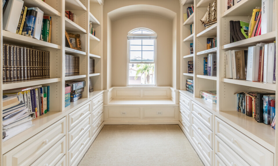 home library reading nook