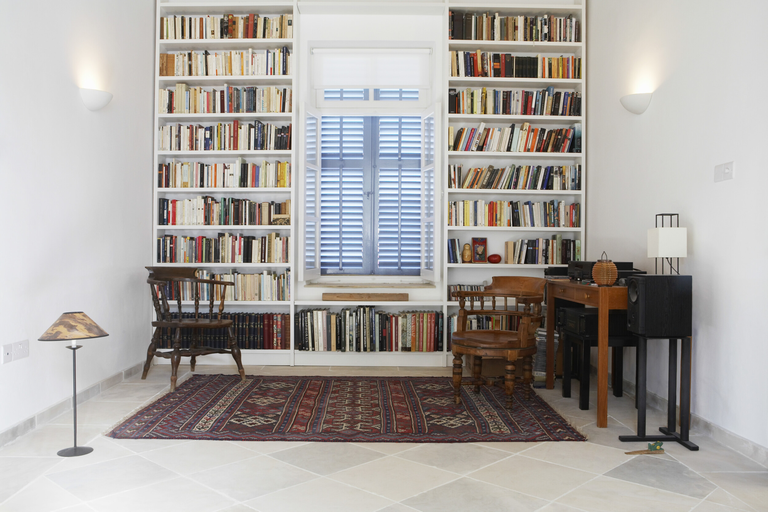 home library with study table