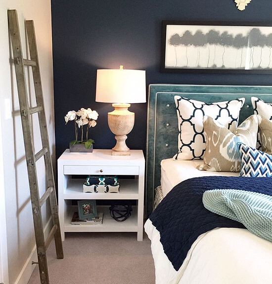indigo bedroom design