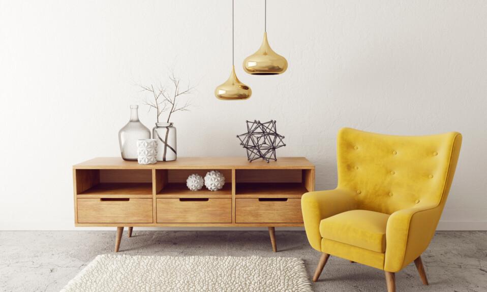 interior design yellow armchair