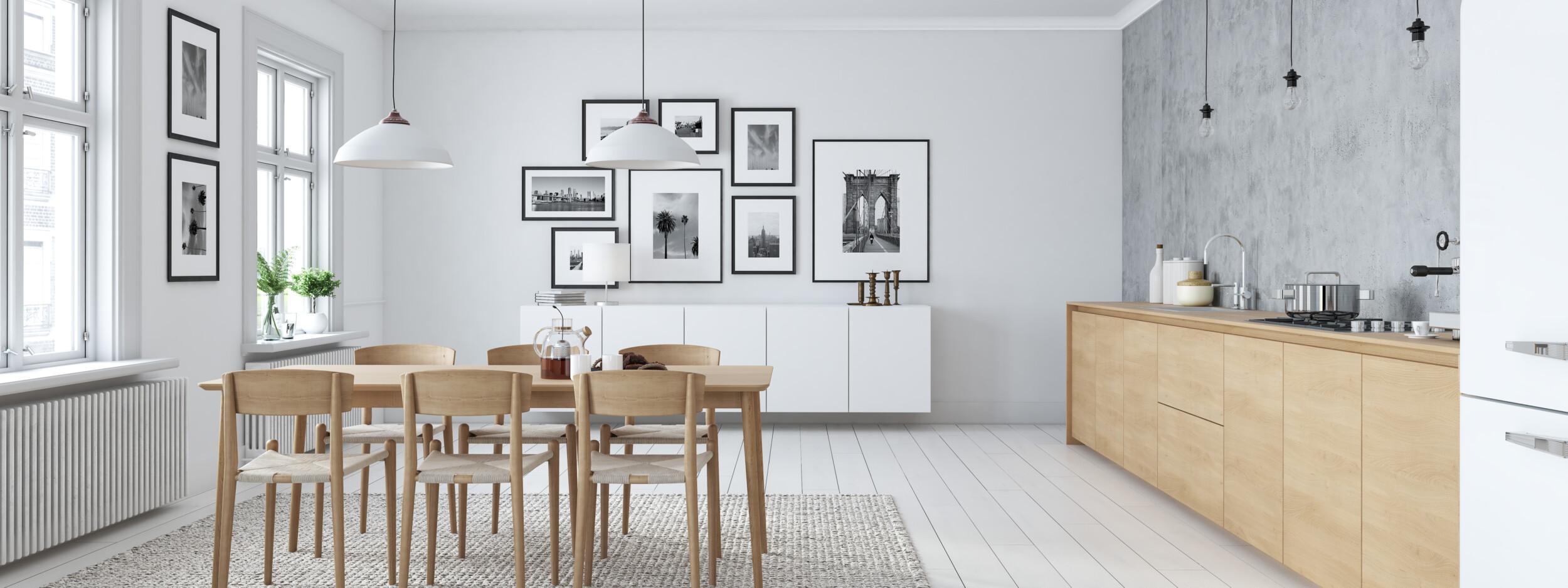 kitchen light grey interior