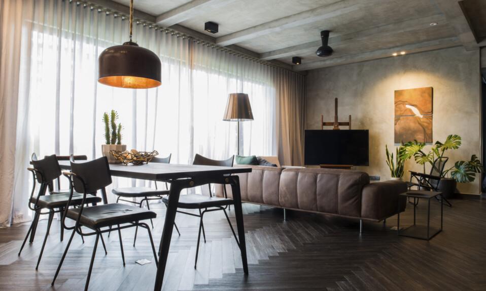 lighting in living room interior