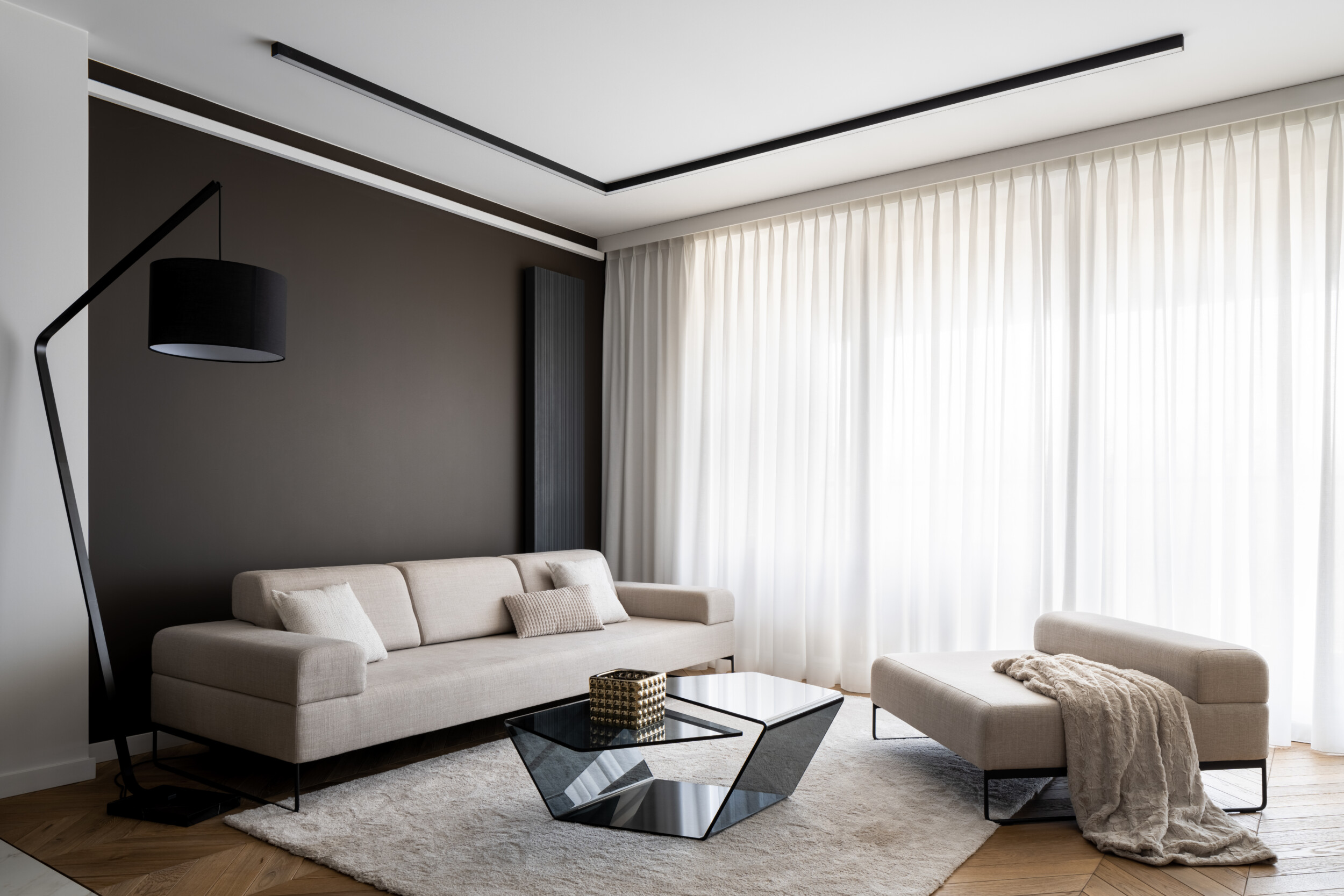 long curtains in living room