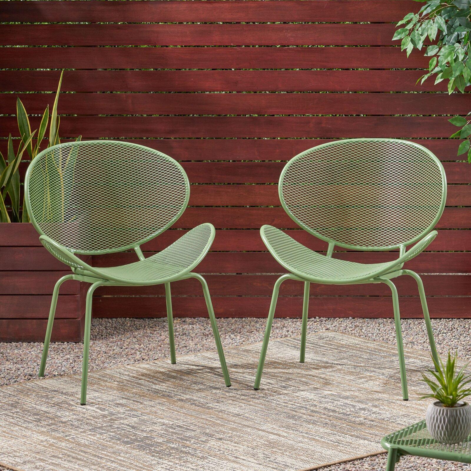 matte green chairs