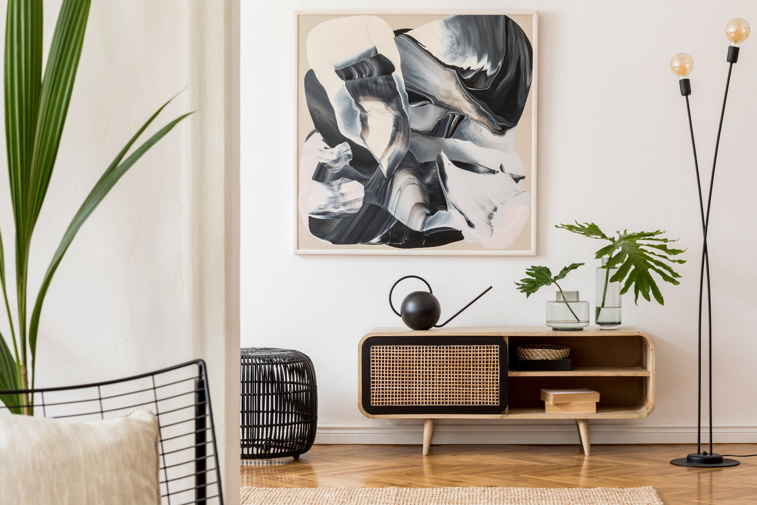 modern art display interior design