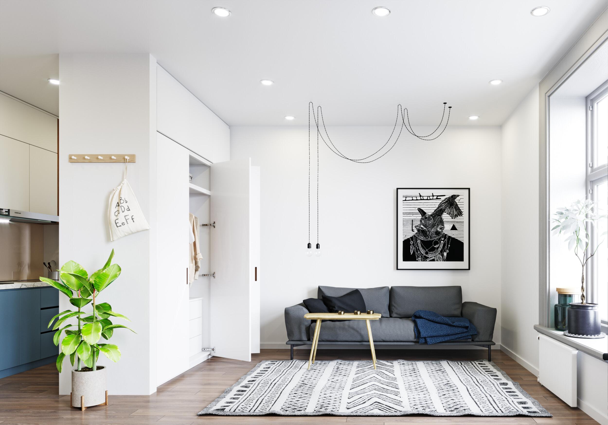 modern art living room