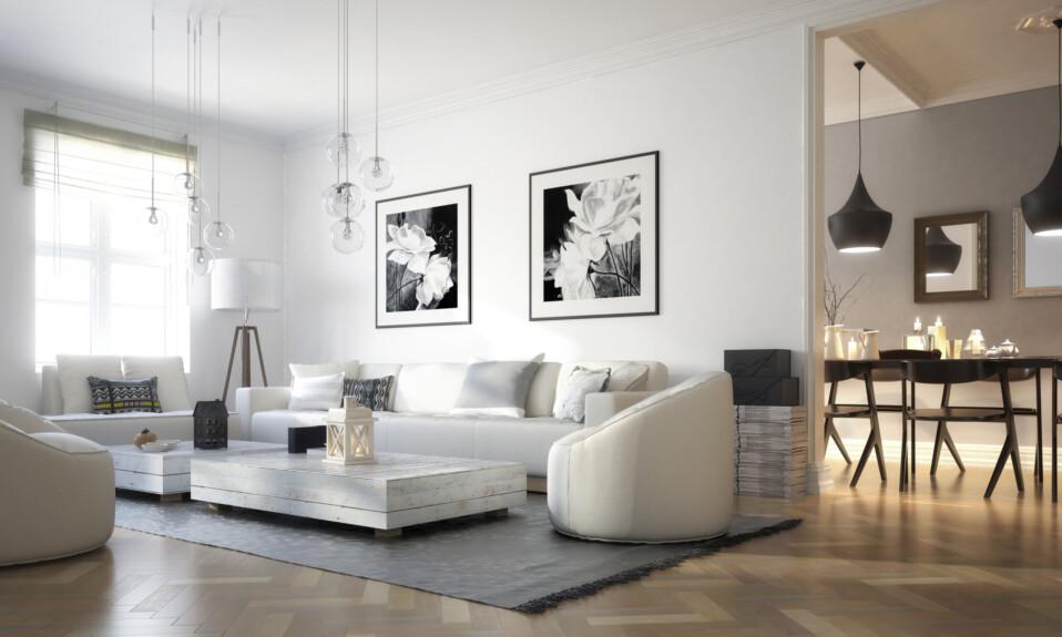 modern art living room interior design