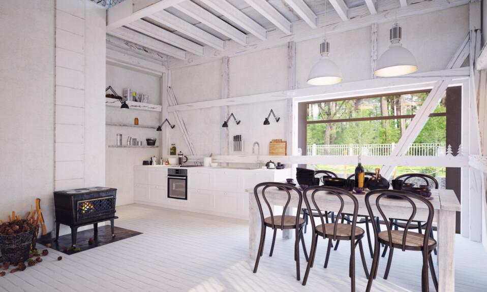 modern farmhouse kitchen interior