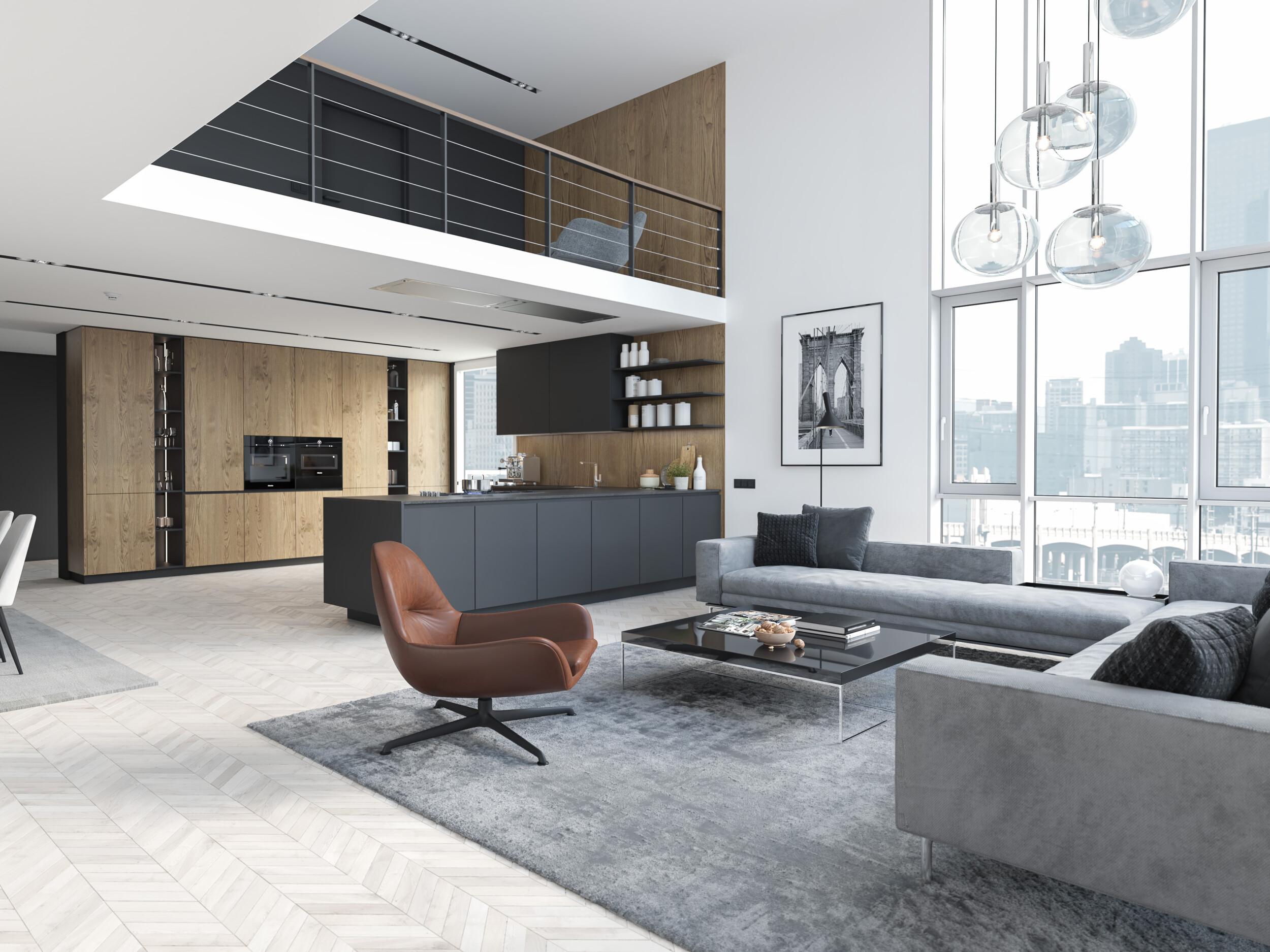modern urban interior design