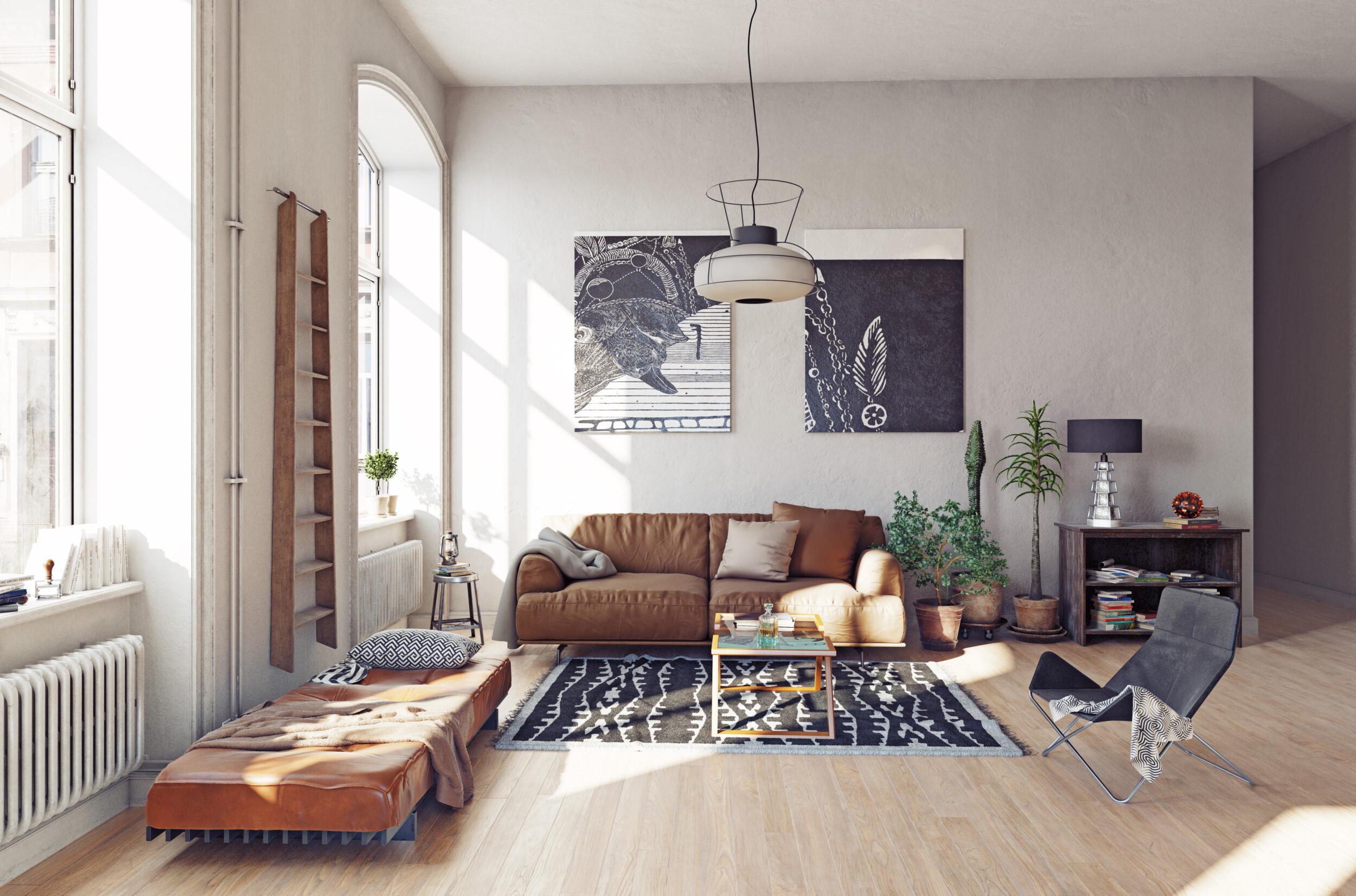 modern urban living room interior design
